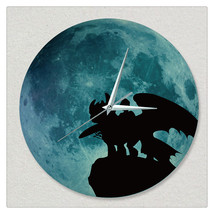 11.8in Luminous Moon Wall Decals Sticker Wall Clock -Dragon - $28.19
