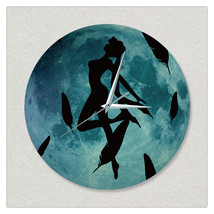 11.8in Luminous Moon Wall Decals Sticker Wall Clock -Dance - $28.19