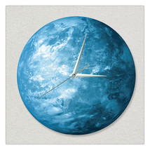 11.8in Luminous Moon Earth Wall Decals Sticker Wall Clock -Earth - $24.99