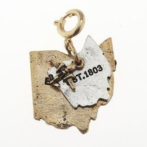 Jane Marie Ohio Two Tone Double State with Airplane Charm