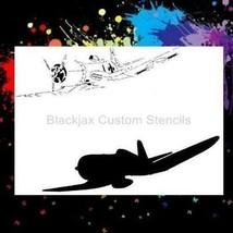 "NEW! 15""x12"" Stencil WWII Corsair Fighter Plane  Airbrush Stencil,Template - $15.88"