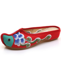 Chinese Embroidery Shoes embroidered Canvas Shoes dancing shoes red - $24.39