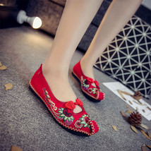 Chinese Embroidery Shoes embroidered Canvas Shoes dancing shoes red image 2