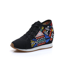 Chinese Embroidery Shoes embroidered Canvas Shoes dancing shoes loafers black - $29.99