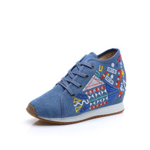 Chinese Embroidery Shoes embroidered Canvas Shoes dancing shoes loafers blue - $29.99