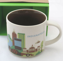Starbucks Indianapolis You Are Here Mug 14 ounce Race Car River Monument... - $14.84