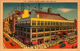 LINEN POSTCARD- MADISON SQUARE GARDEN, NEW YORK CITY, NY BK23 - $4.90