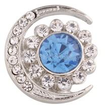 20mm Moon Snap Jewelry Partnerbeads Rhinestone Button Fit Bracelet&bangle Neckla - $7.99
