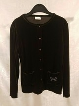 Minuetto Cardigan Sweater Teen Girls Top Size 14, 16, 18, Brown Color Lo... - $6.00