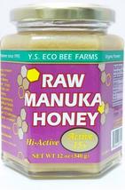 YS Eco Bee Farms Raw Manuka Honey Organic Hi Active 15+ 12 oz - $42.56