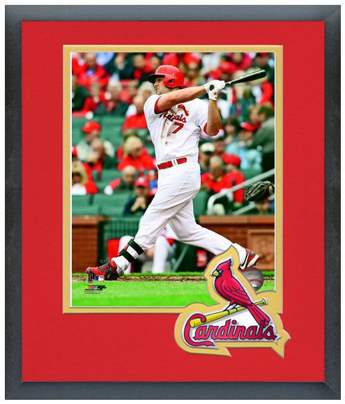 "11"" x 14"" Framed & Matted Matt Holliday St. Louis Cardinals- Studio Photo Pluses"