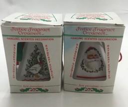 2 Vtg Santa Tree Duck  Fragrant hanging ornamen... - $14.03