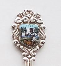 Collector Souvenir Spoon Fiji Lali Drum Drummer Porcelain Enamel Emblem - $14.99