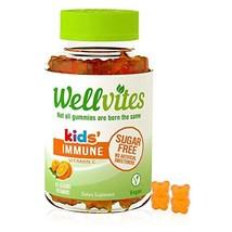Wellvites Kids Immune Daily Sugar Free, Vegan Gummy Vitamin: Vitamin C - Sweeten