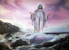 ORIGINAL ACEO Jesus Religous Art -: rdoward fin... - $5.94