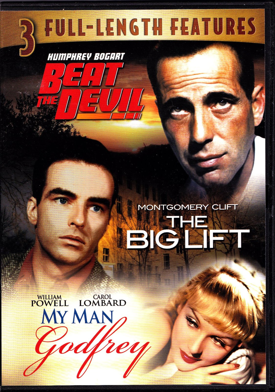 Beat the Devil , the Big Lift , My Man Godfrey : 3 Full Length Features Dvd