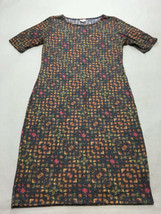 Lularoe XL Extra Large Charcoal Gray Geometric Soft Heathered Julia Dress - $21.99