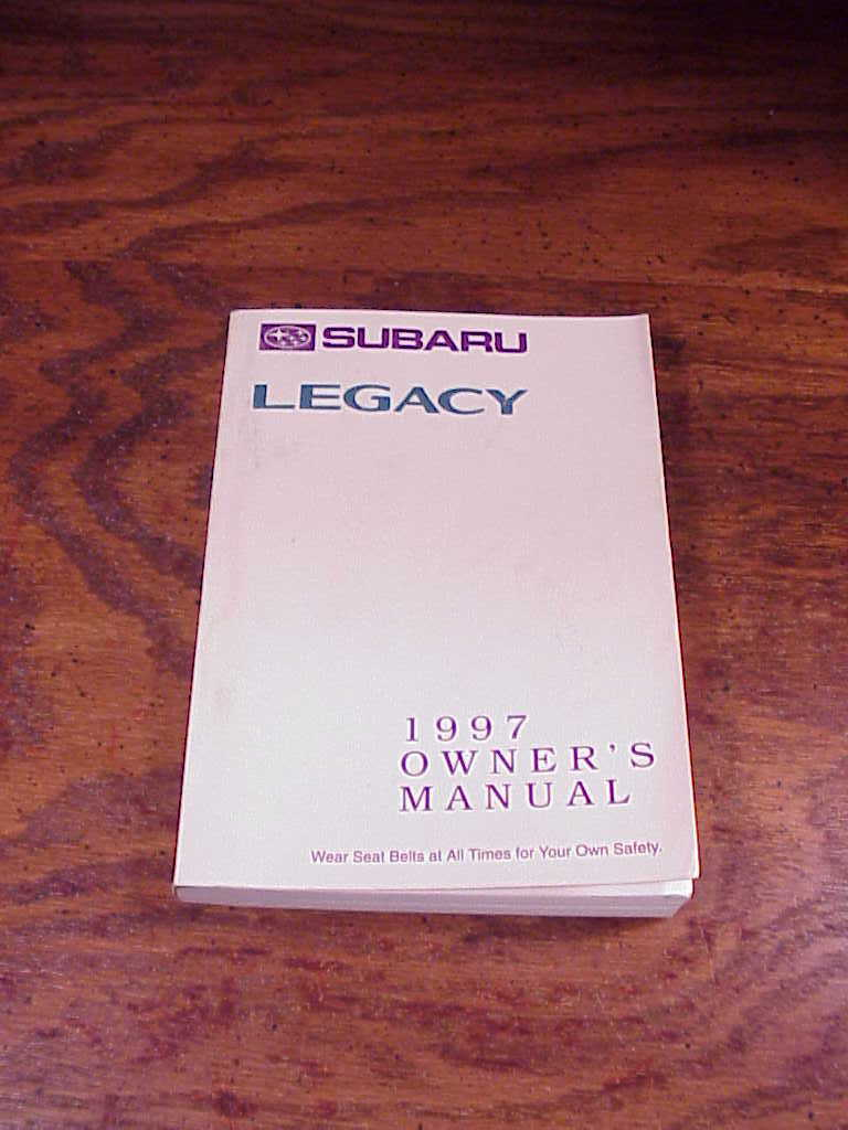 1997 Subaru Legacy Car Owner's Manual, no. MSA5M9701A and A2230BE