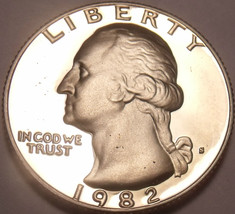 United States 1982-S Proof Washington Quarter~We Have Proof Quarters~Fre... - $6.42