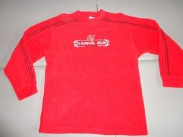 Red Embroidered Tampa Bay Buccaneers NFL Fleece Crew Sweatshirt Adult XL... - $29.09