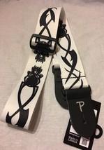 """Perri's 2"""" White Nylon Guitar Strap, Skull & Tribal Design, PLS-265 Leat... - $12.86"""
