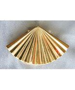 Elegant Mid Century Modern Golden Fan Scarf Cli... - $12.95