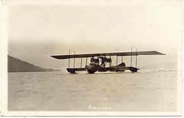 Glen Curtiss Seaplane America at Lake Keuka New York 1917 Photo Post Card - $85.00