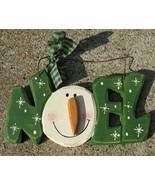 19805N - Noel Snowman Hanging Sign  - $4.95