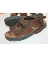 Eastland Size 10 D Brown Leather Rustic Sandals Men Shoes VTG  - $29.70