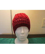 Handmade Womens V-Stitch Hat - Burgundy - $12.99