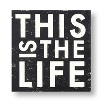 Rustic Wooden Sign This Is The Life  Size 18 x 20 Vintage Style Sign Ite... - $49.00