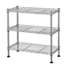 3-Tier Wire Shelving Rack Shelf Adjustable Commercial Garage Kitchen Sto... - $39.84
