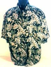 CAMPIA MEN'S BLACK TROPICAL HAWAIIAN CASUAL SHIRT MEDIUM - $12.99