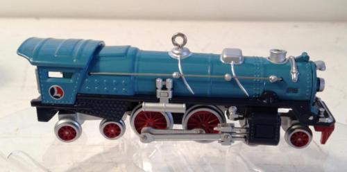 Blue Comet 400E Steam Locomotive Lionel Train Hallmark Ornament & Box 2002 7th