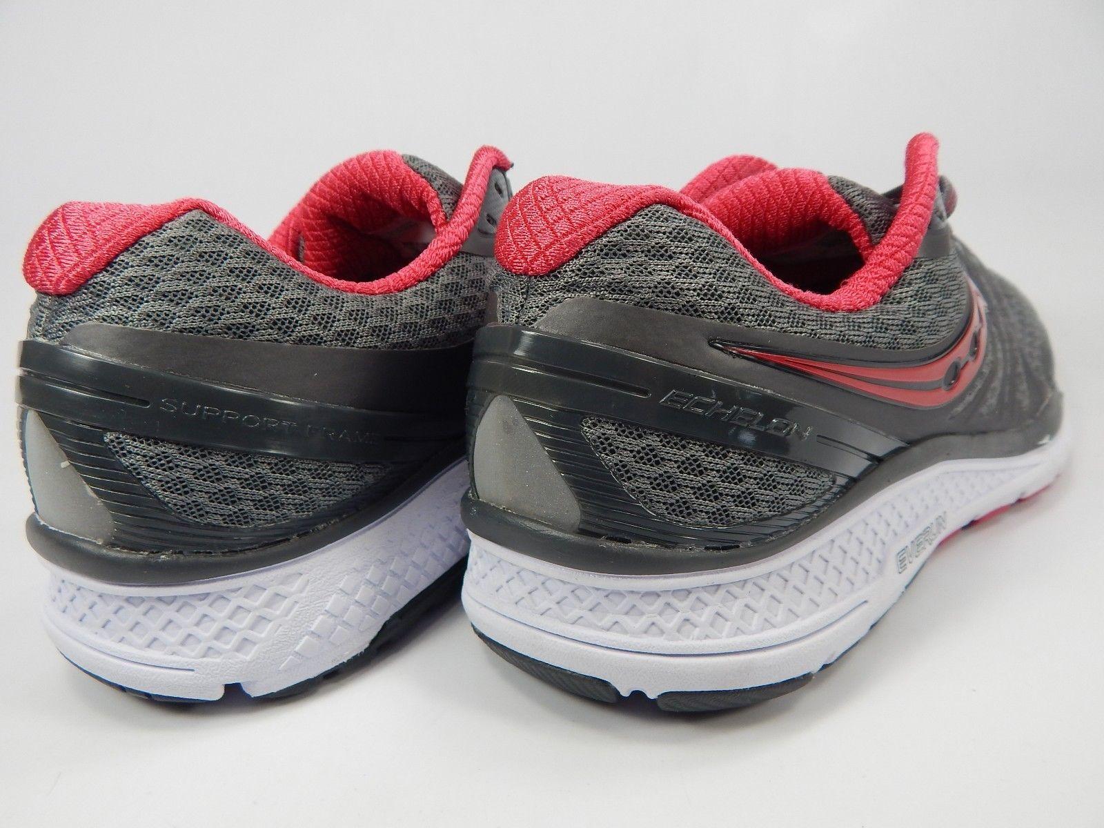 Saucony Echelon 6 Size US 10 M (B) EU 42 Women's Running Shoes Gray Red S10384-1
