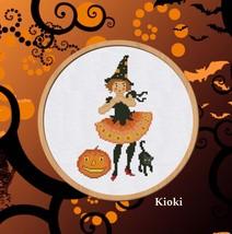 Cross Stitch Pattern Halloween Girl - $5.00