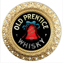 Old Prentice Whisky Liquor Sign 14 Round - $23.76
