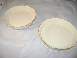 "2 Lenox Dishes aprox 7 3/4"" across Bone color  - $9.59"