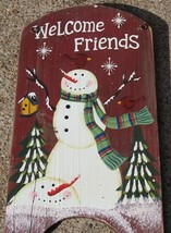 41974WF - Welcome Friends Wood  Hanging Sign  - $5.95