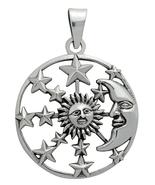 Silver Sun, Moon & Stars Pendant for Hope - $45.45