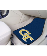 Georgia Tech Car Mats 2 Piece Front, Black Background, Fan Mats - $30.00