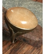 handcrafted ring ~ rough natural peach agate ca... - $15.00