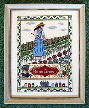Home Grown garden vegetable fruit cross stitch chart The Needle's Notion  - $8.50