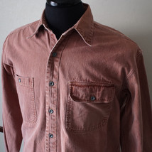 Joseph Abboud Single Needle Faded Red Long Sleeve Button Front Shirt Siz... - €11,64 EUR