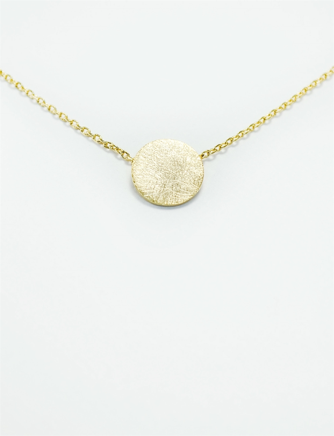 Classic gold circle pendant necklace gold moon necklace minimalist moonnk 77937 z aloadofball Image collections