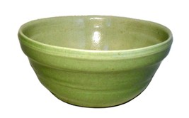 Mid Century Heavy Ceramic Pastel Green Serving Bowl  - $32.50