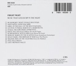 Fright Night: Music That Goes Bump In The Night Cd image 2