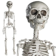 Halloween Movable Skeleton Full Body Human Model Home Party Figure Decor... - $19.99
