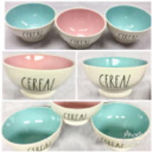 """NEW Rae Dunn """"CEREAL""""  Color Cereal Bowls 3 Piece Set LL - $54.95"""