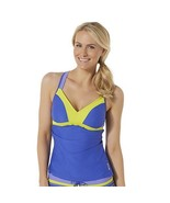 Women's Athletic Tankini Top Reebok Size Large  Blue & Yellow  NEW  - $26.72